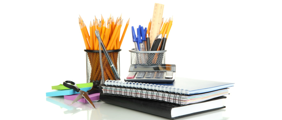 Superieur School And Office Supplies Isolated On A White Background