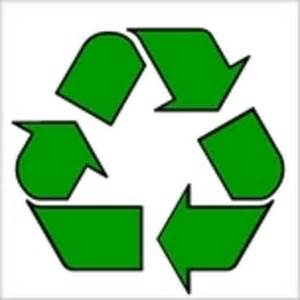 the green recycling logo on a white background