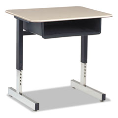 Adjustable height student desk