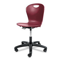 solid-plastic-seat adjustable-chair