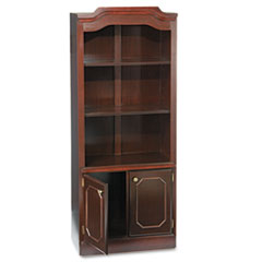 Tall bookcase with doors on bottom