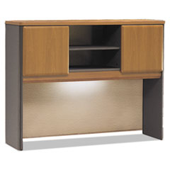 Hutch with open storage