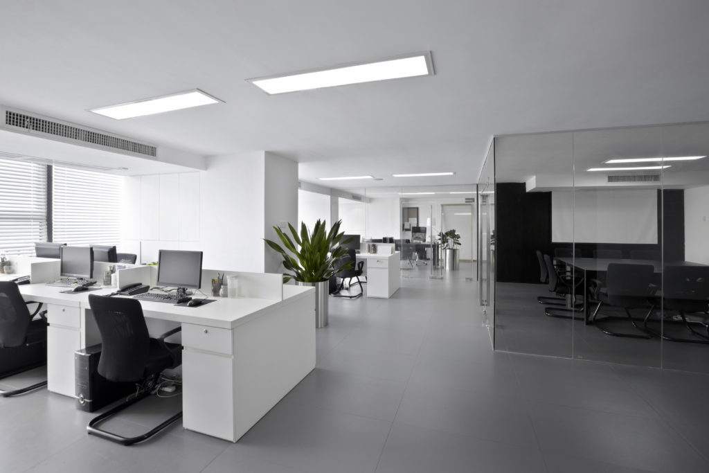 modern office with nice office furniture